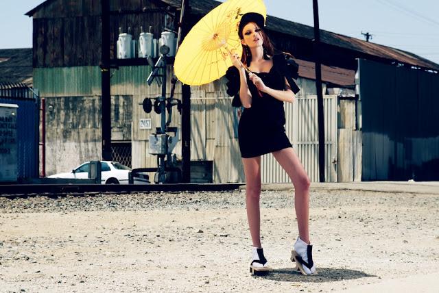 A yellow umbrella