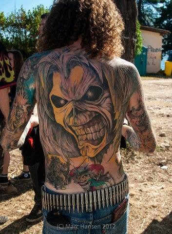 angry tattoo back