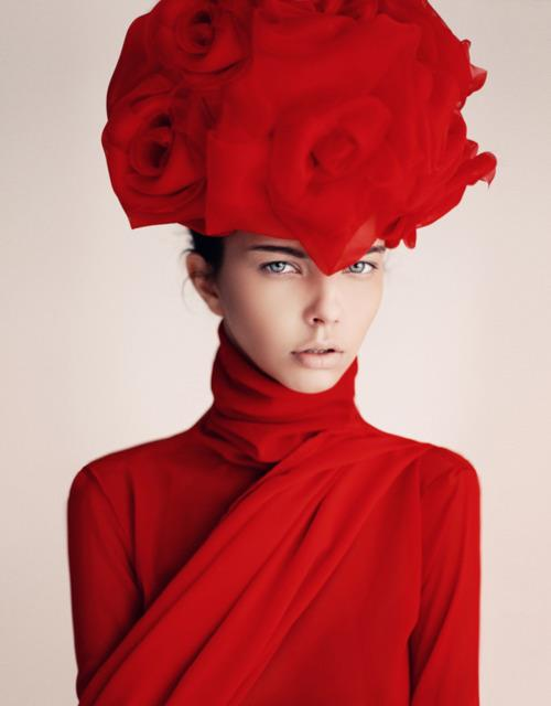 big red hat girl